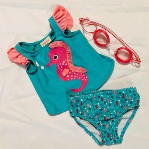 Baby girl two-piece swimsuit sz 12 months
